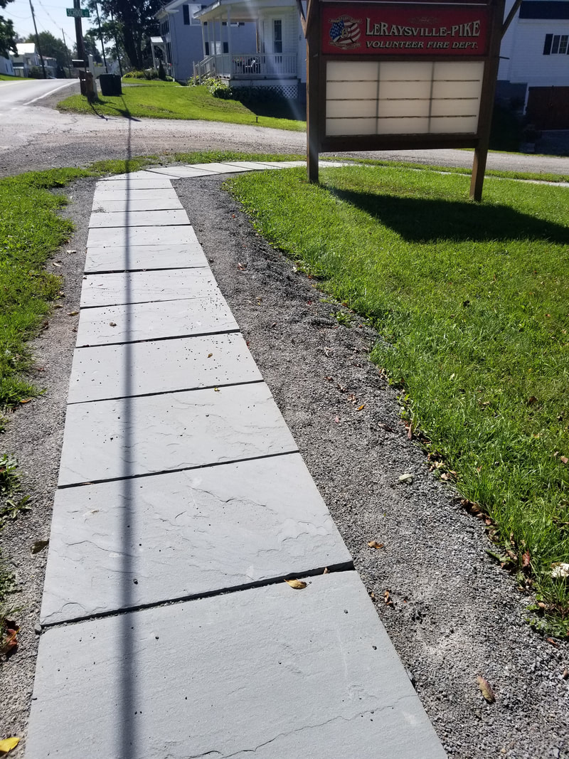 Blue Natural cleft on this beautiful sidewalk